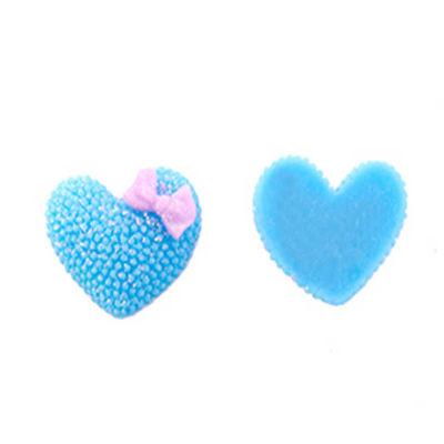 Plastik Mavi Kalp Stıcker