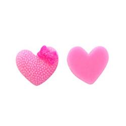 - Kalp Stıcker Plastik Pembe