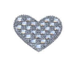 - Kalp Ütü İle Yapışan 6.2x4cm (hot-fıx)
