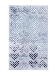 Kalp Ütü İle Yapışan 6.2x4cm (hot-fıx) - Thumbnail
