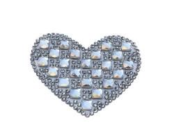 - Kalp Ütü İle Yapışan 6.2x4cm (hot-fıx) Pk:4