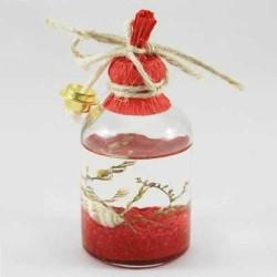 - Çiçekli 50 Cc Kırmızı Kandil Şişesi