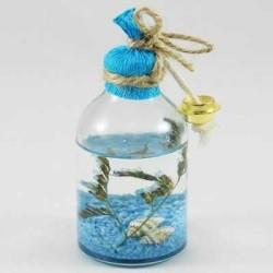 - Kandil Şişesi Çiçekli 50 Cc Mavi