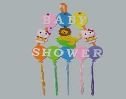 - Kapı Süsü Baby Shower Keçeden
