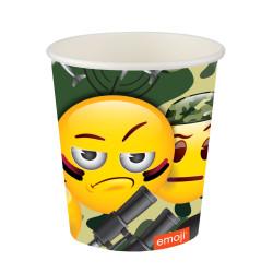 - Emoji Kamuflaj Karton Bardak (200 cc) 8'li Paket