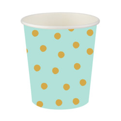 - Pastel Düşler Mint Yeşili Karton Bardak (200 cc) 8'li Paket