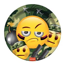 - Emoji Kamuflaj Karton Tabak (23 cm) 8'li Paket