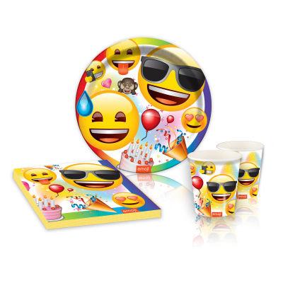 Emoji Parti Karton Tabak (23 cm) 8'li Paket