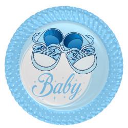 - Mavi Patikler Karton Tabak (23 cm) 8'li Paket