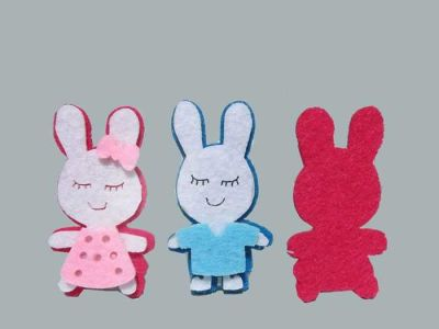 Keçe Tavşan Mavi