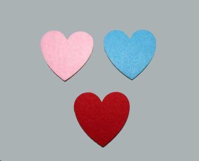 Keçeden Kalp Mavi