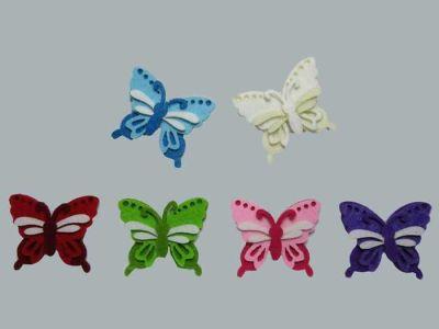Keçeden Kelebek Beyaz