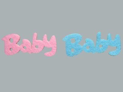 Keçeden Yazı Baby Mavi