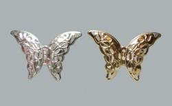 Kelebek Metal Küçük Gümüş - Thumbnail