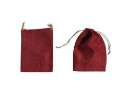 - Kese Çuval Natural Kırmızı Küçük 9x12cm