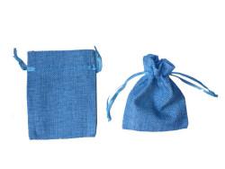 - Kese Çuval Natural Mavi Küçük 9x12cm