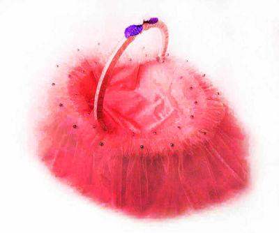 Kabarık Model Kırmızı Kına Sepeti