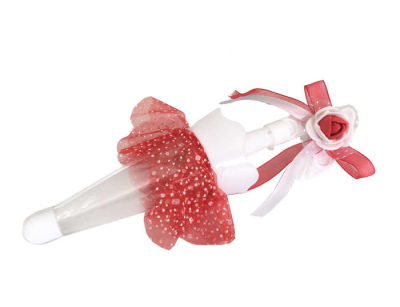 Kına Süslü Şemsiye Kutu Kırmızı