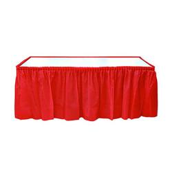 - Kırmızı Plastik Masa Eteği (75x426 cm) 1'li Paket