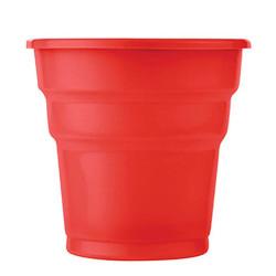 - Kırmızı Plastik Meşrubat Bardağı (180 cc) 25'li Paket