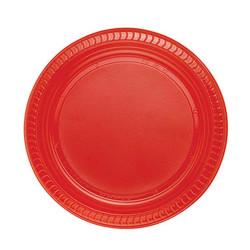 - Kırmızı Plastik Tabak (22cm) 25'li Paket