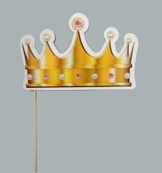 - Çubuklu Simli Kral Tacı Altın