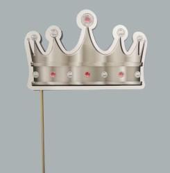 - Çubuklu Simli Kral Tacı Gümüş