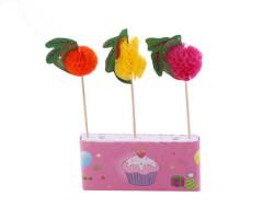 - 6 Adet Meyve Modelli Karışık Kürdan