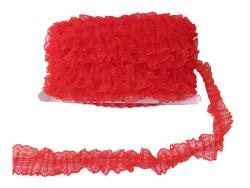 Kurdela Dantelli Kırmızı 4.2cm - Thumbnail