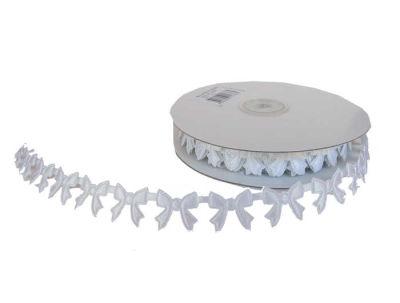 Kurdela Fiyonk Modeli 2cm Beyaz