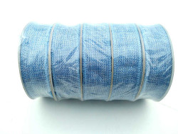 Jüt Kanaviçe Mavi 1.5 cm 10mt Kurdela - Thumbnail