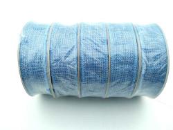 Jüt Kanaviçe Mavi 3 cm 10mt Kurdela - Thumbnail