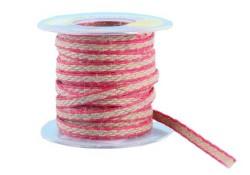 - Kurdela Kanaviçe Kenar Şeritli 1.6cm Kırmızı