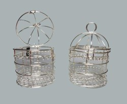 Kuş Kafesi Gümüş - Thumbnail