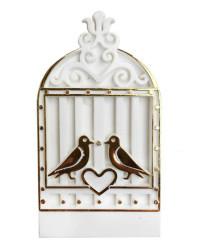 - Kuş Kafesi Kalpli Plastik Beyaz