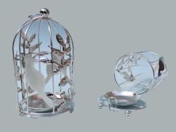- Kuş Kafesi Kuşlu Gümüş Mumluk
