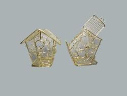 Kuş Yuvası Ev Modeli Altın - Thumbnail