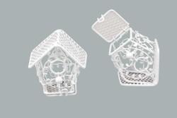Kuş Yuvası Ev Modeli Beyaz - Thumbnail