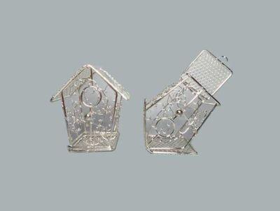 Kuş Yuvası Ev Modeli Gümüş