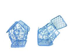 Kuş Yuvası Ev Modeli Mavi - Thumbnail