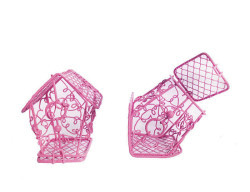 Kuş Yuvası Ev Modeli Pembe - Thumbnail