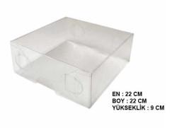 - Kutu Asetat Büyük Boy 22x22x9 Cm Pk:5 Kl:80