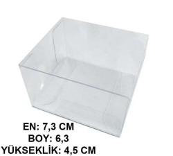 - Kutu Asetat Kare 6,3x4,5x8x7,3 Cm