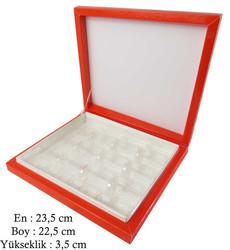 - Kutu Çikolata Kutusu Karton 16 Lı Separatörlü Kırmızı Pk:1 Kl:40