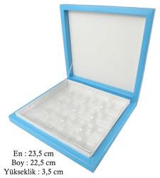- Kutu Çikolata Kutusu Karton 16 Lı Separatörlü Mavi Pk:1 Kl:40