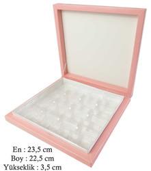 - Kutu Çikolata Kutusu Karton 16 Lı Separatörlü Pembe Pk:1 Kl:40