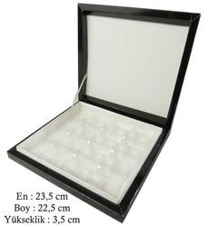 - Kutu Çikolata Kutusu Karton 16 Lı Separatörlü Siyah Pk:1 Kl:40