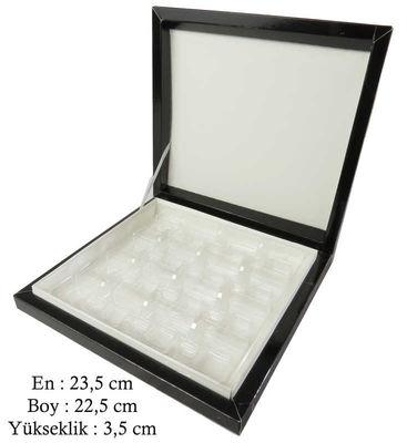 Kutu Çikolata Kutusu Karton 16 Lı Separatörlü Siyah Pk:1 Kl:40