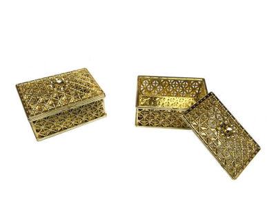 Kutu Dikdörtgen Büyük Altın 8*5,5cm