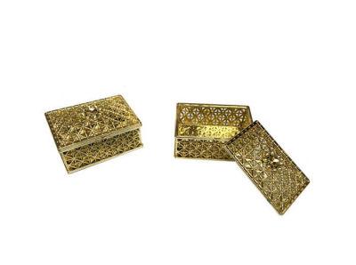 Kutu Dikdörtgen Küçük Altın 6*4cm